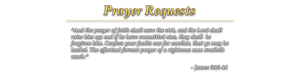 Prayer Requests - Agape Life Ministries